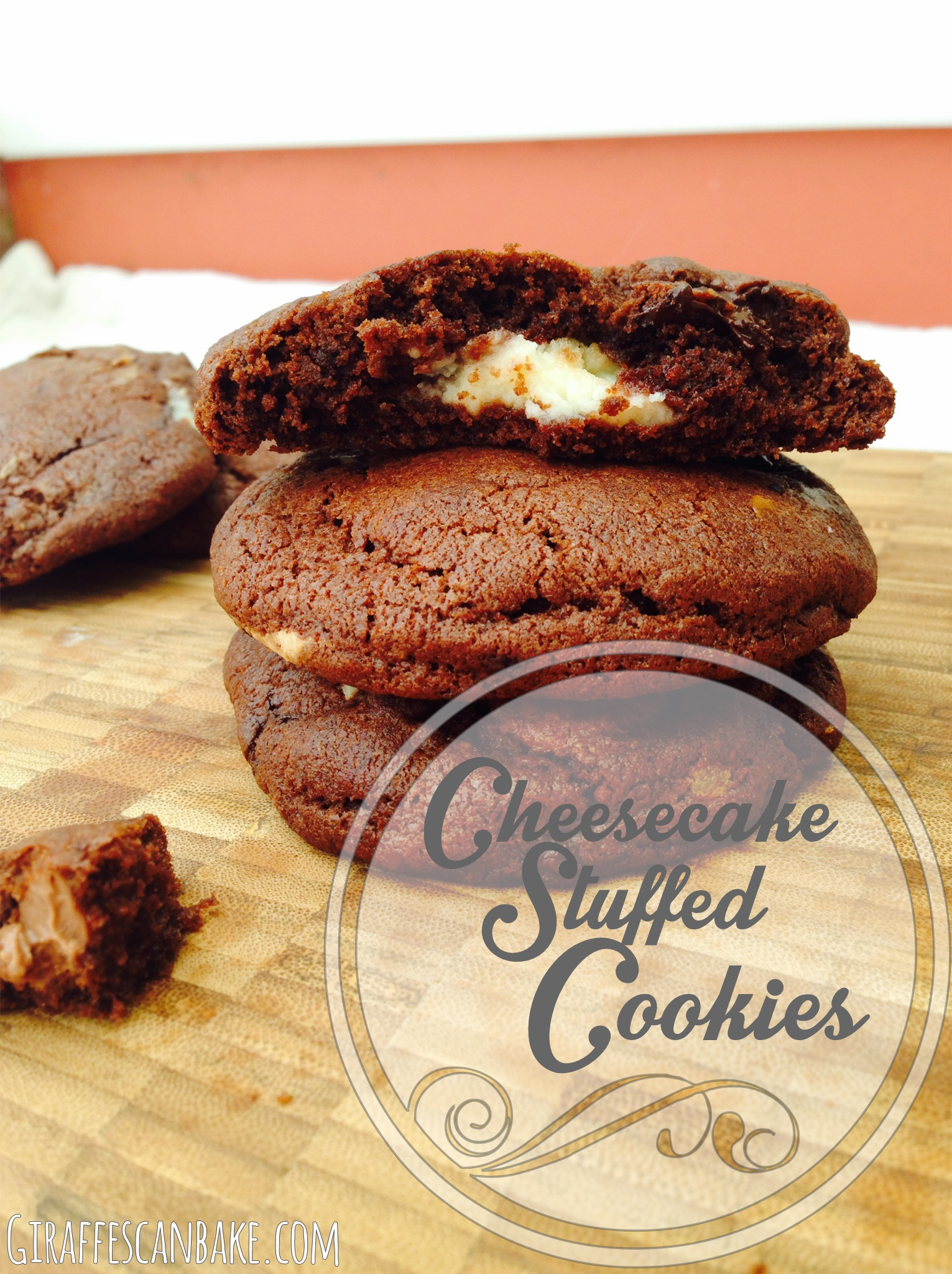Cheesecake Stuffed Triple Chocolate Cookies