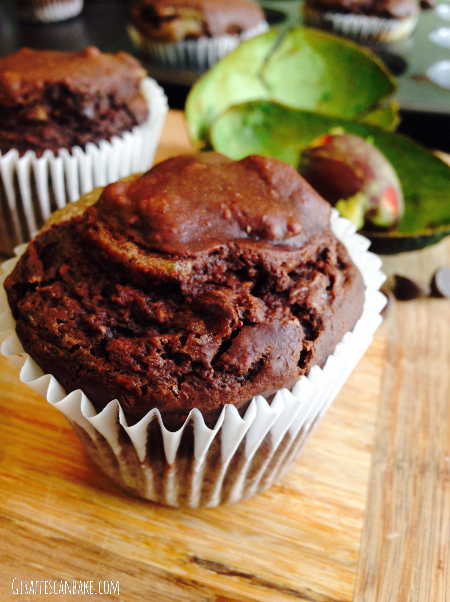 Chocolate Avocado Muffin with Lime