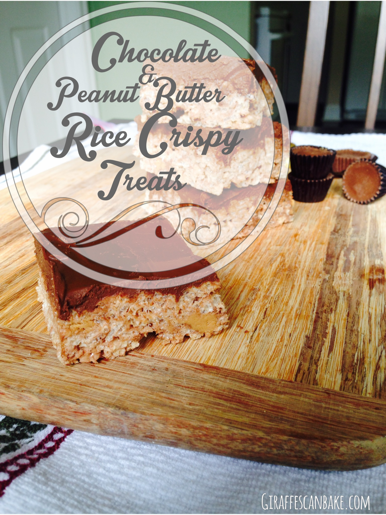 Chocolate and Peanut Butter Rice Crispy Treats