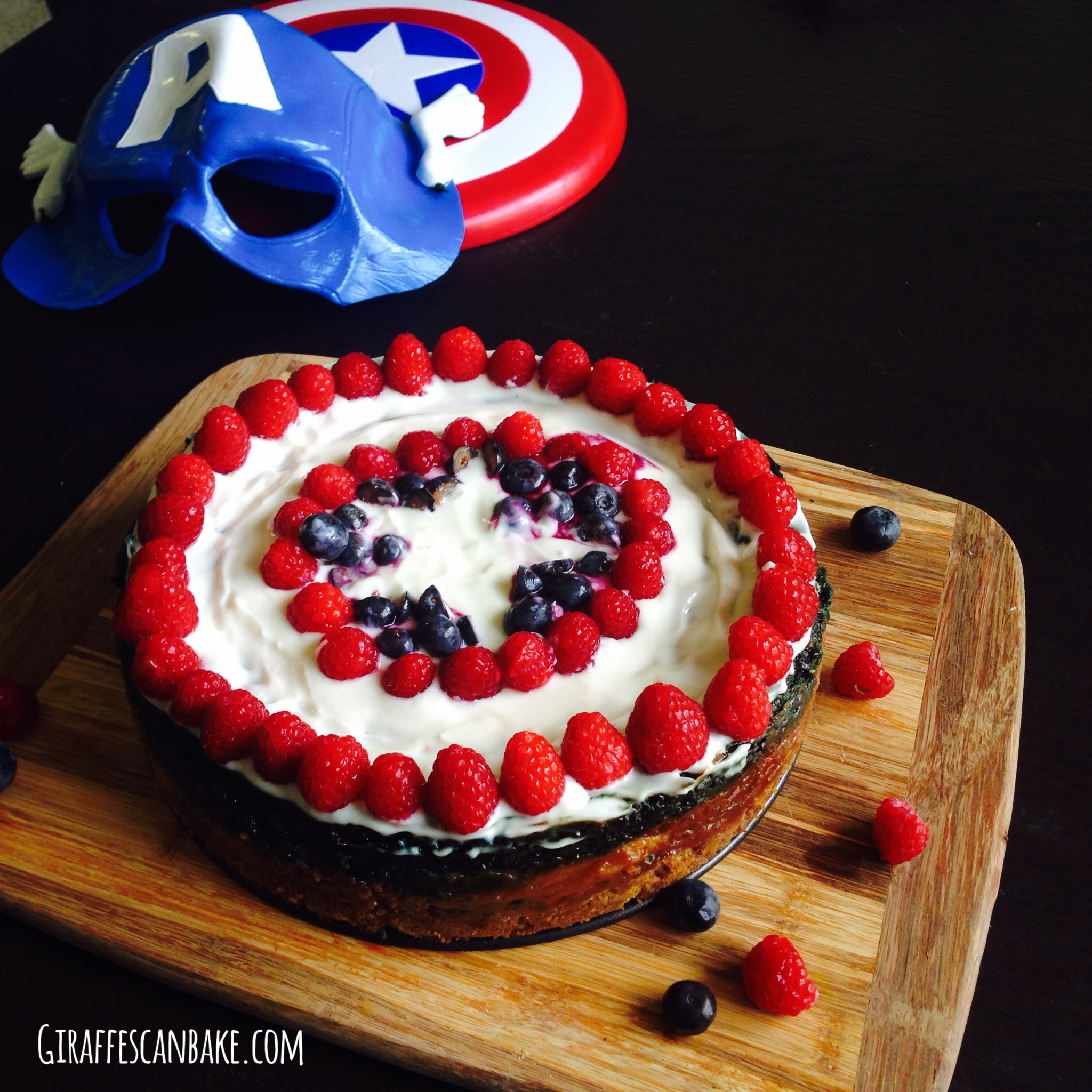 captain america cheesecake