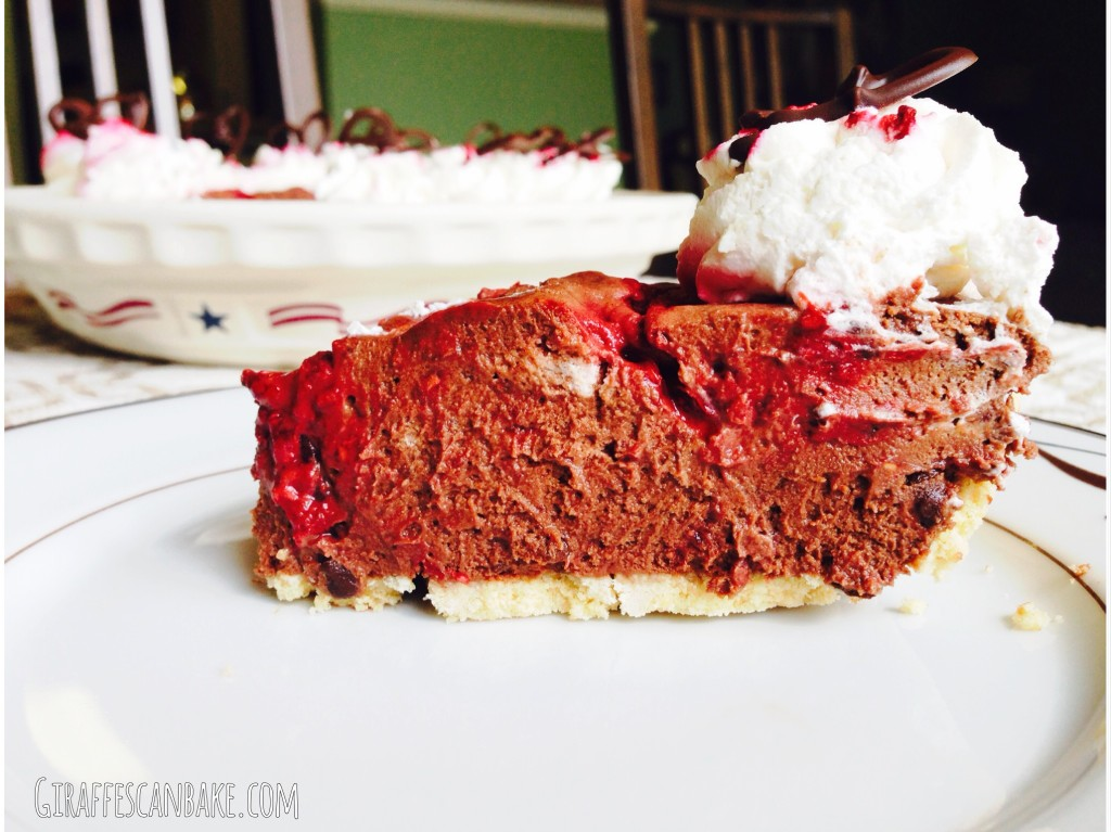 Chocolate and Raspberry Truffle Pie
