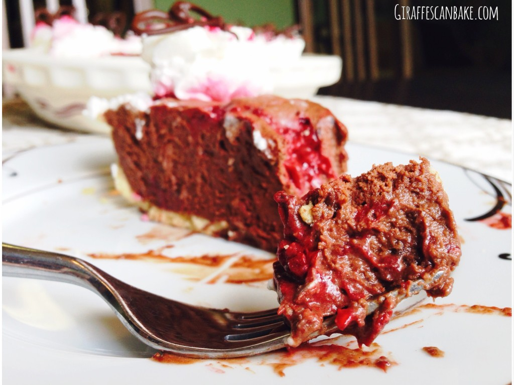 Chocolate and Raspberry Truffle Pie