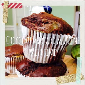 chocavocado muffin