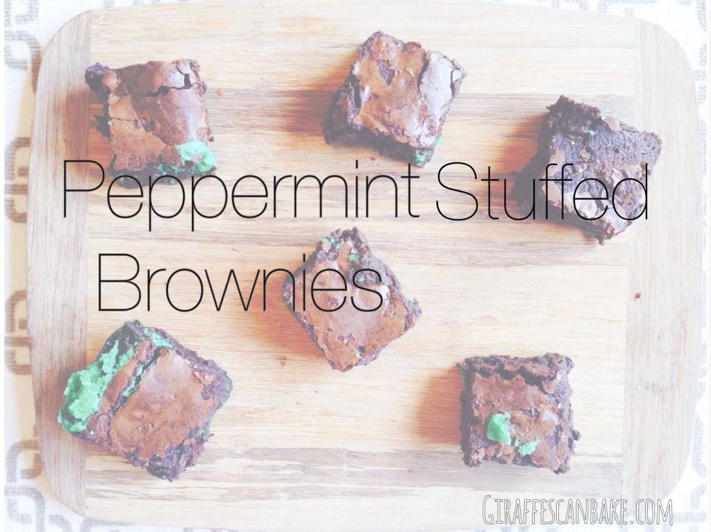 Peppermint Stuffed Brownies