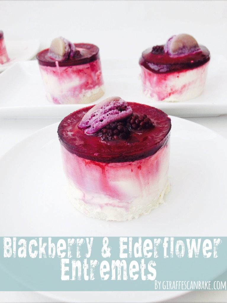 blackberry and elderflower entremet