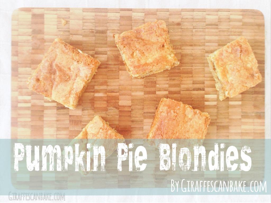 Pumpkin Pie Blondies