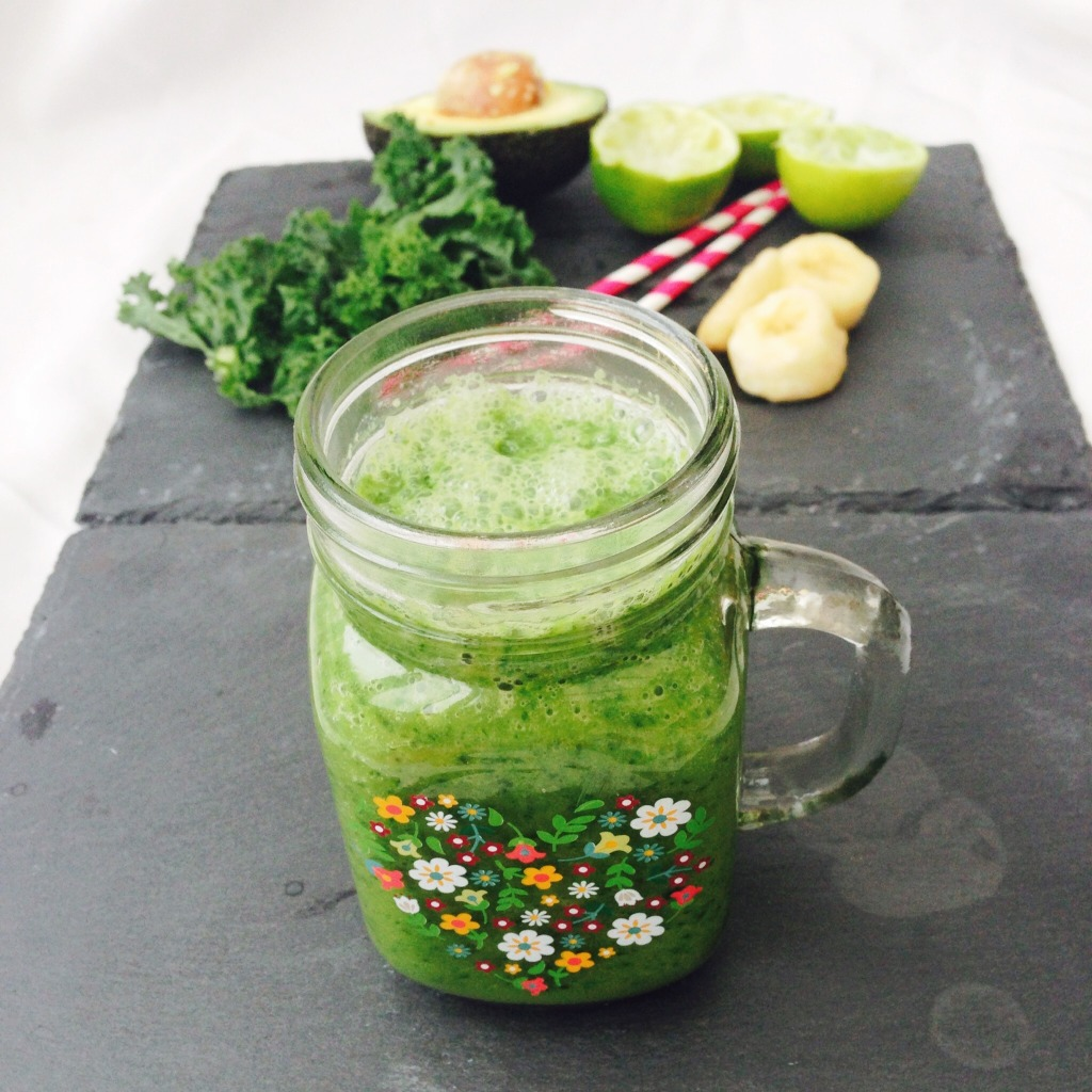 Kale Avocado Banana Smoothie