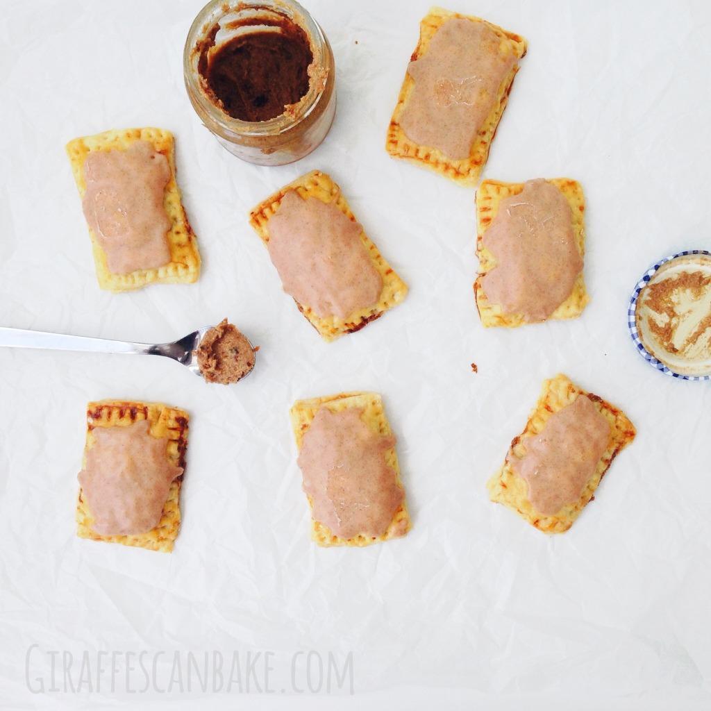cinnamon raisin peanut butter pop tarts