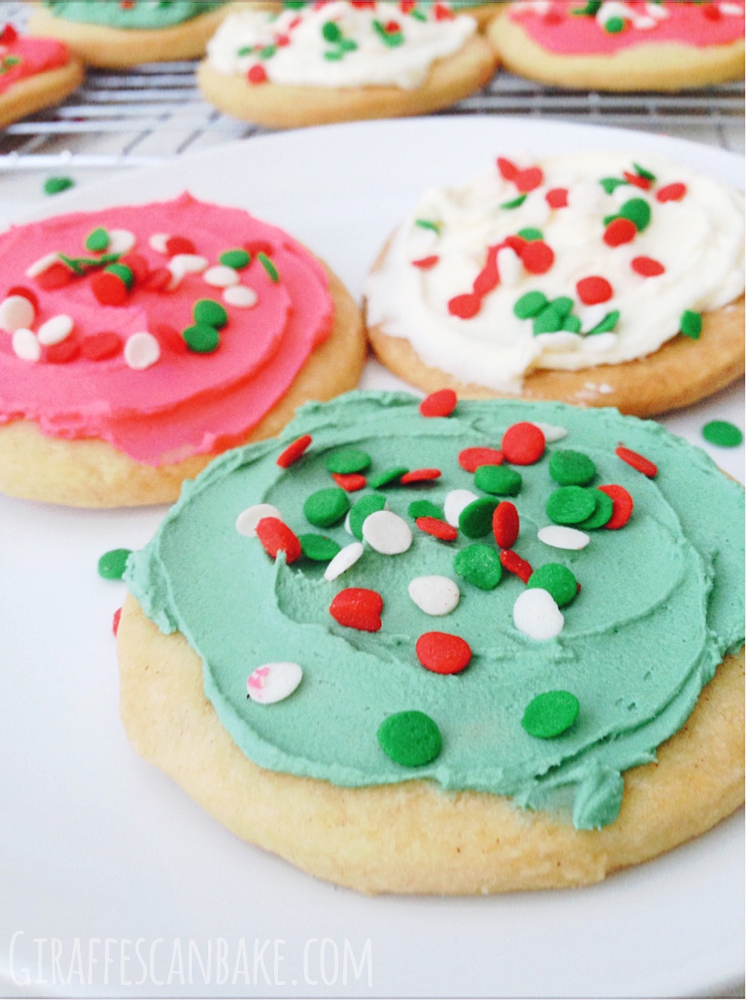 Shortbread Cookies Christmas.Frosted Shortbread Christmas Cookies