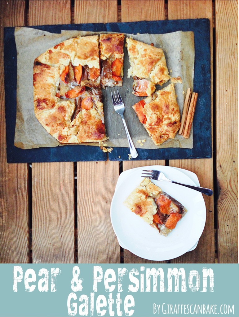 Pear and Persimmon Galette