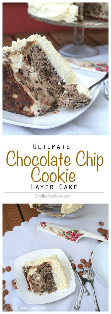Chocolate Chip Cookie Ultimate Layer Cake