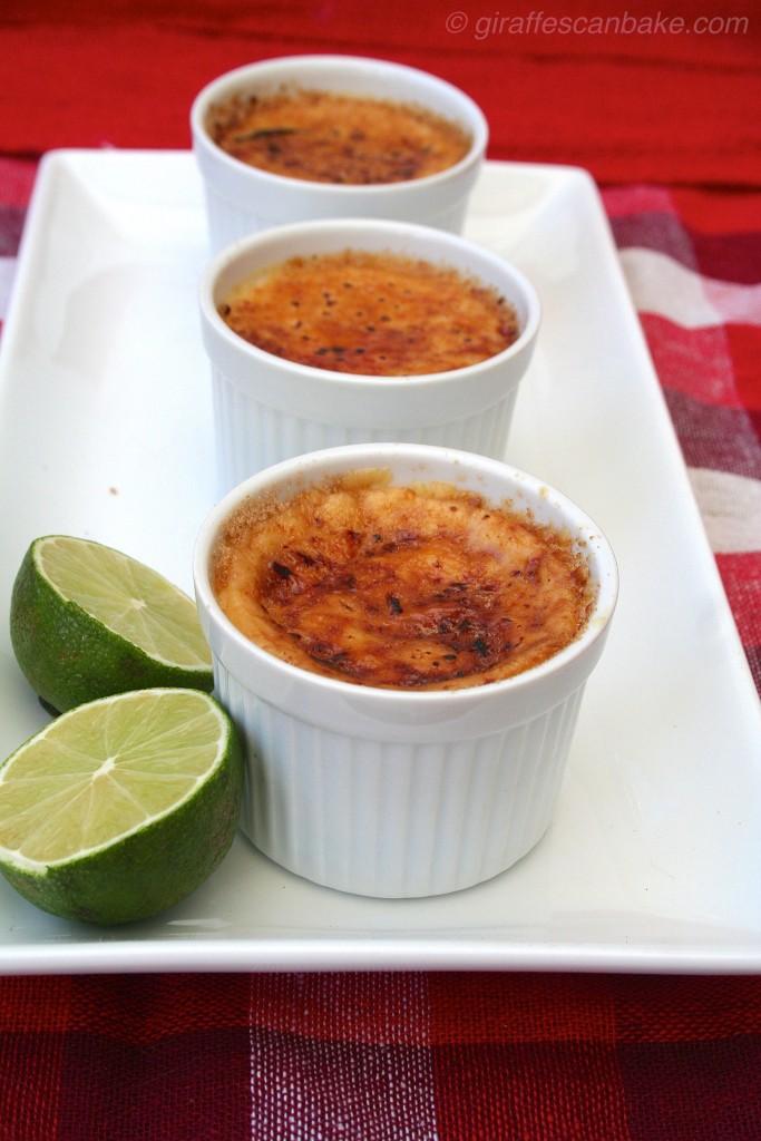 Lime and Ginger crème brûlée