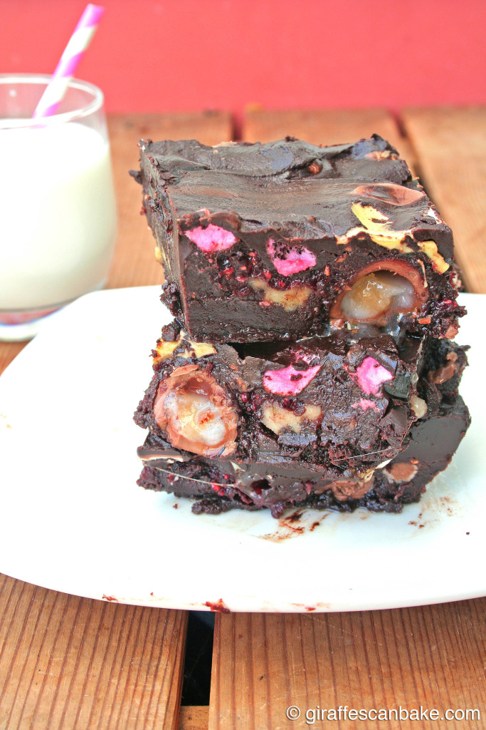 Easter Rocky Road Brownies