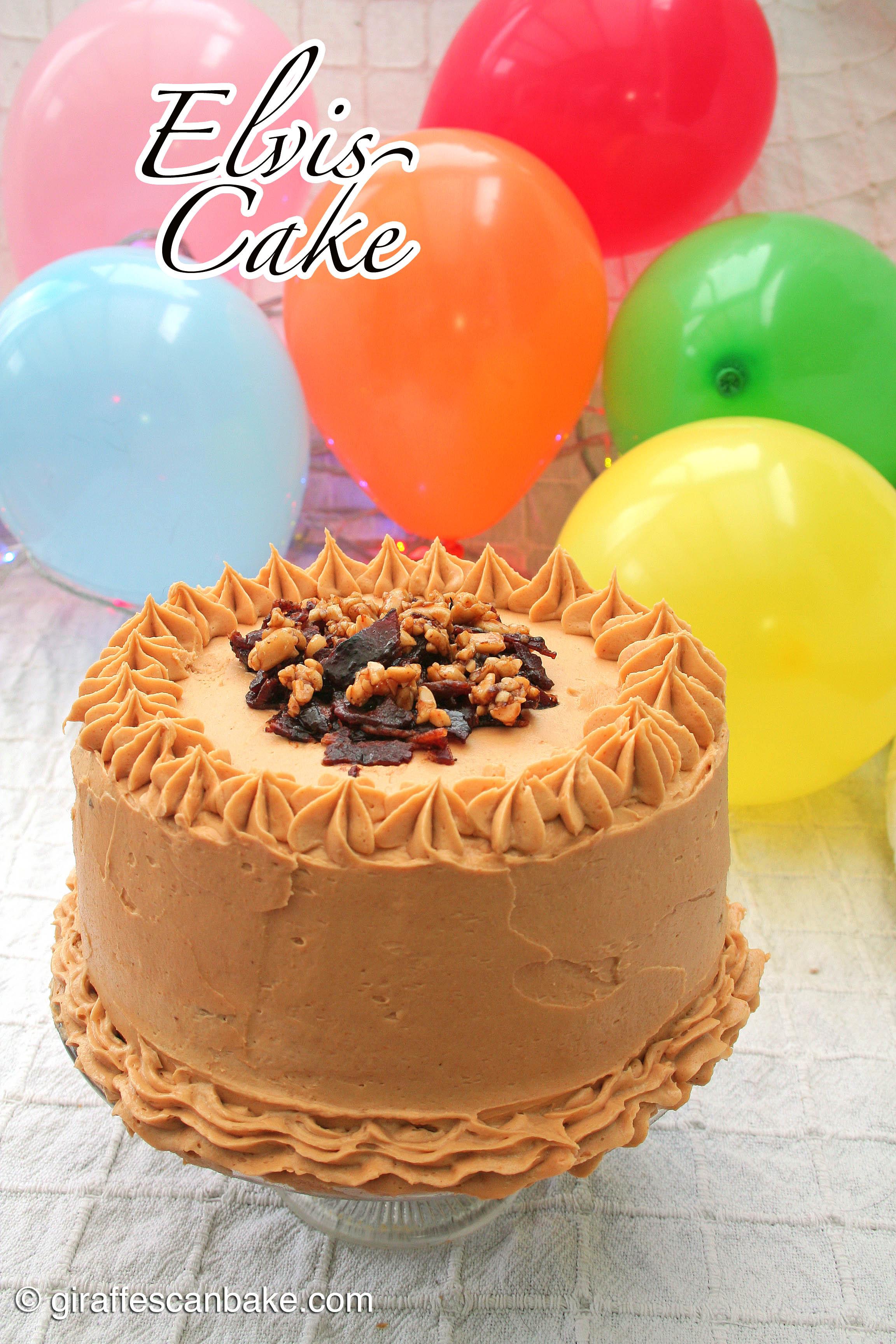 Miraculous Elvis Cake A Tipsy Giraffe Birthday Cards Printable Opercafe Filternl