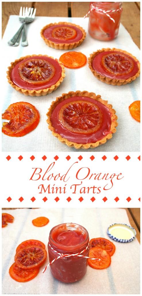 Blood Orange Mini Tarts