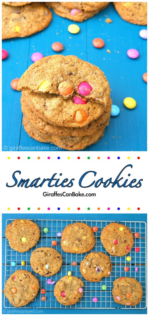 Wonderfully Chewy and Insanely Delicious Smarties Cookies | Giraffes Can Bake