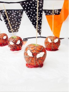 Spider-man Toffee Apples