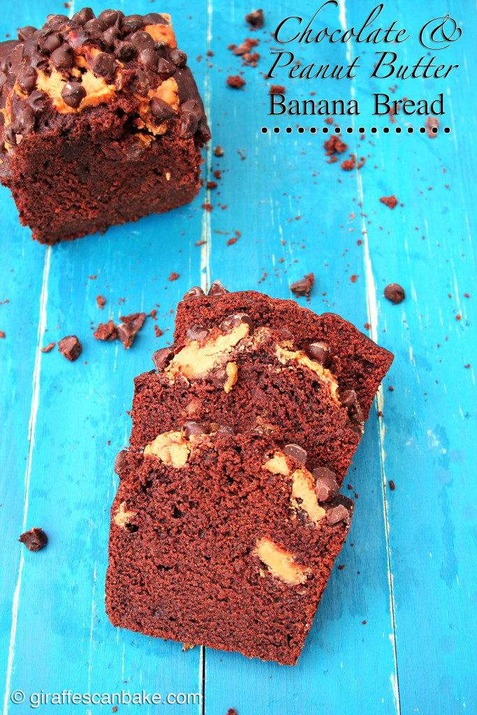 Chocolate & Peanut Butter Banana Bread