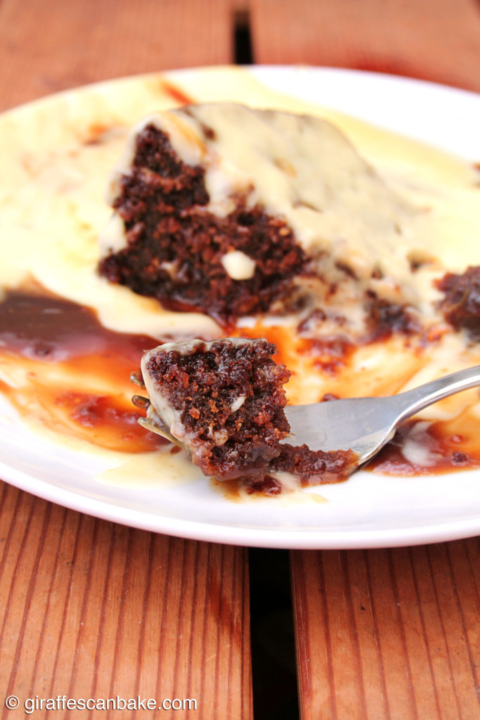 Sticky Toffee Pudding with Orange Custard