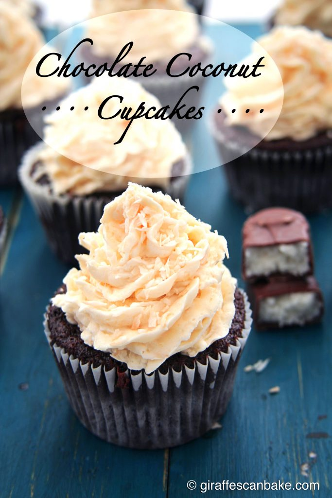 Chocolate Coconut Cupcakes - a Bounty/Mound bar in cupcake form!