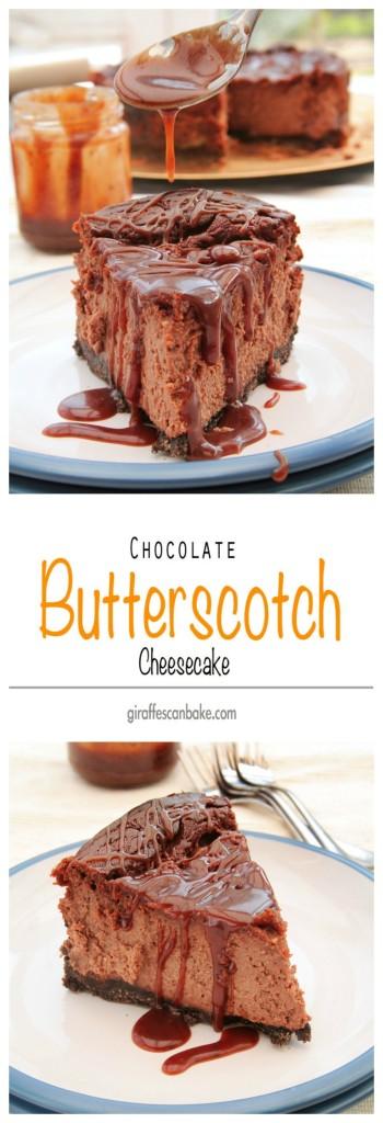 Chocolate Butterscotch Cheesecake