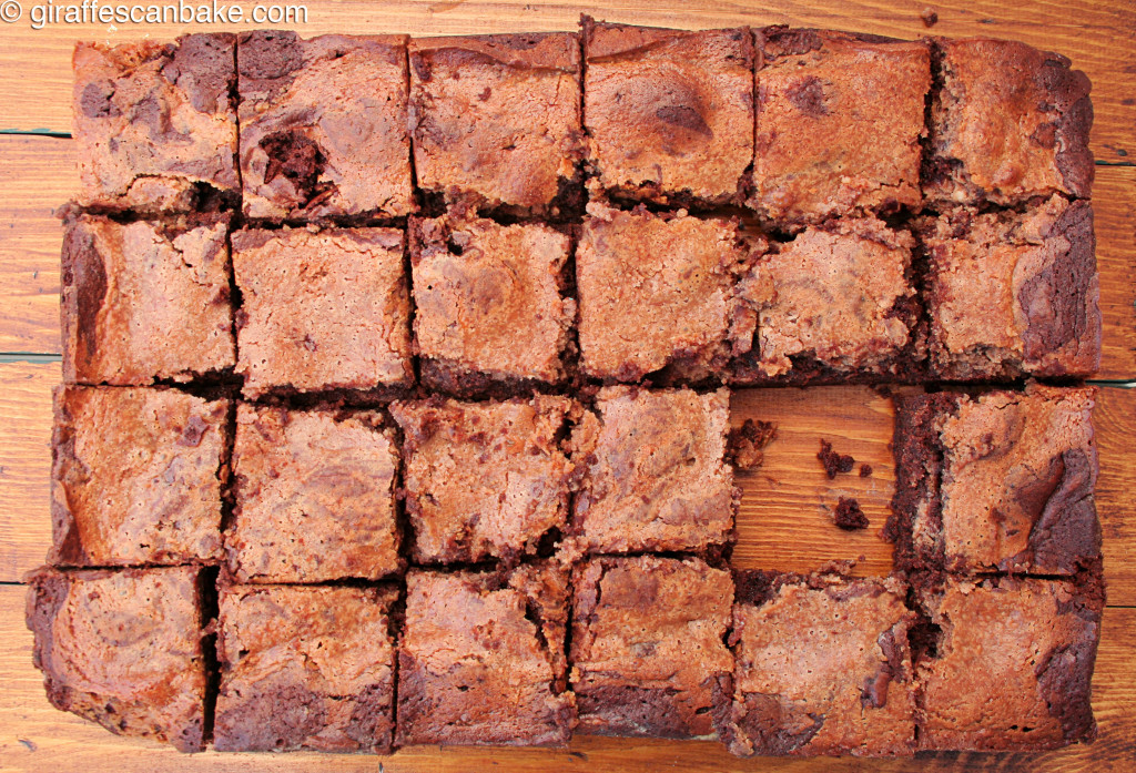 Chocolate Orange Cheesecake Brownies by Giraffes Can Bake - Delicious, fudgy chocolate orange brownies with a chocolate orange cheesecake layer