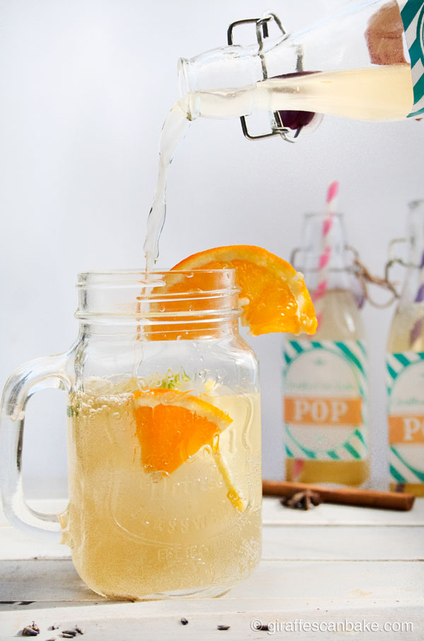 Homemade Cola - A really easy to make homemade cola soda that is bursting with flavour from spices, citrus and lavendar. This is what cola should taste like when it's made with real ingredients and not 110% sugar!